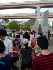 2013年「夢と希望と絆の架け橋」プロジェクト」メリケン波止場15