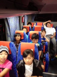 2013年「夢と希望と絆の架け橋」プロジェクト」車中風景7月30日3