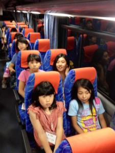 2013年「夢と希望と絆の架け橋」プロジェクト」車中風景7月30日6