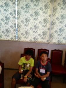 2013年「夢と希望と絆の架け橋」プロジェクト」中華街にて夕食9